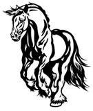 Cavalo de esboço running Imagem de Stock