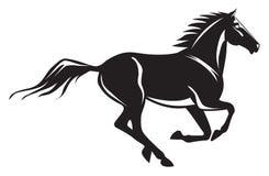 Cavalo de galope ilustração stock