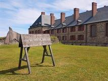 Cavalo de Louisbourg - bretão do cabo - Canadá imagem de stock