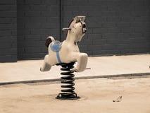 Cavalo de madeira Fotos de Stock
