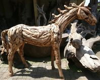 Cavalo de madeira imagens de stock royalty free