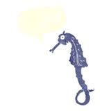cavalo de mar dos desenhos animados com bolha do discurso Foto de Stock