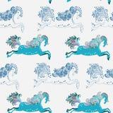 Cavalo de salto bonito sem emenda Fotografia de Stock