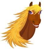 Cavalo de sorriso ilustração do vetor