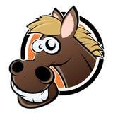 Cavalo de sorriso dos desenhos animados Imagem de Stock