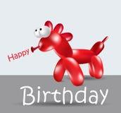 Cavalo do balão do cartão do feliz aniversario Fotos de Stock