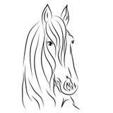 Cavalo do esboço do vetor Imagens de Stock