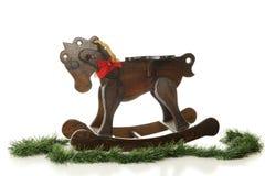 Cavalo do Natal Fotografia de Stock