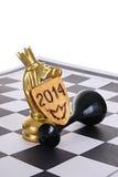Cavalo do ouro Imagens de Stock Royalty Free