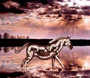 Cavalo do robô fotografia de stock