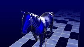 Cavalo do robô vídeos de arquivo