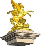 Cavalo dourado do vetor Fotografia de Stock Royalty Free