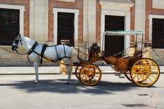 Cavalo e carro Imagem de Stock