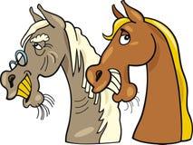 Cavalo e jovens velhos um ilustração royalty free