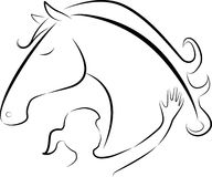 Cavalo e menina Imagem de Stock Royalty Free