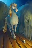 Cavalo e o rato Imagens de Stock