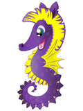 Cavalo marinho bonito dos desenhos animados Imagem de Stock