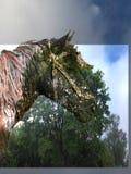 Cavalo na floresta mágica Imagem de Stock