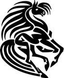 Cavalo no estilo tribal - ilustração do vetor. Imagem de Stock Royalty Free