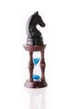 Cavalo preto da xadrez com areia-pulso de disparo Imagem de Stock Royalty Free