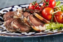 Cavalo Rib Meat Sausage-Like Kazy ou Qazy fotografia de stock royalty free