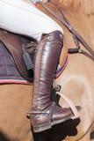 Cavalo Rider Boot Details Fotos de Stock