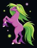 Cavalo roxo Imagem de Stock Royalty Free