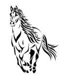 Cavalo running tribal ilustração royalty free