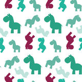 Cavalo sem emenda simples papttern ilustração stock