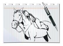 Cavalo tirado mão Foto de Stock