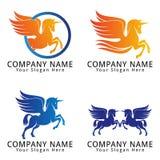 Cavalo Unicorn Pegasus Concept Logo Imagem de Stock Royalty Free