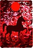 Cavalo vermelho Fotografia de Stock