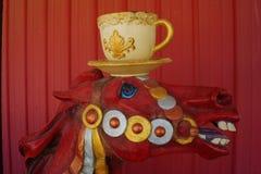 Cavalo vermelho engraçado Imagem de Stock Royalty Free