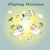 Cavalos de voo Fotografia de Stock Royalty Free