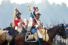 Cavalos do passeio do homem e da mulher Imagem de Stock Royalty Free