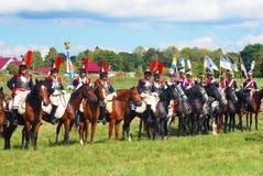 Cavalos do passeio dos Cuirassiers Imagens de Stock