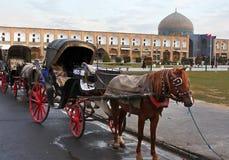 Cavalos e ônibus Fotos de Stock Royalty Free