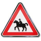 Cavalos e trajeto de freio Fotografia de Stock Royalty Free