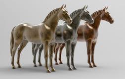 Cavalos - metal ilustração stock