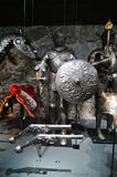Cavalry armor and weapons. The Armory Museum- Livrustkammaren Museet in Stockholm Sweden- armors and weapons Royalty Free Stock Photography