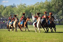 Cavalry attack Royalty Free Stock Photos