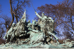 Cavalry Charge Ulysses US Grant Statue Civil War Memorial. WASHINGTON - FEB 26, : Cavalry Charge Ulysses US Grant Statue Civil War Memorial on Capitol Hill in Stock Photo
