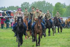 Cavalry detachment Stock Photo