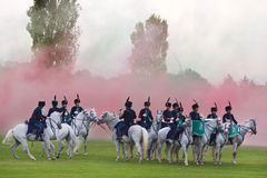 Cavalry fanfare. Royalty Free Stock Image