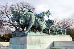 Cavalry group. Monument in front of US Capitol Royalty Free Stock Image