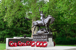 Cavalry Memorial. Hyde Park Cavalry Memorial is located at Stanhope Gate near Hyde Park Corner Royalty Free Stock Photography