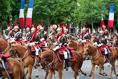 Cavalry at military parade in Republic Day stock photography