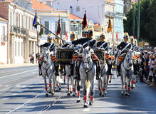 Cavalry Regiment riding Lusitano horses, Lisbon Stock Image