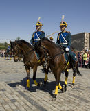 Cavalry show in Moscow Stock Photos