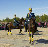 Cavalry show in Moscow Royalty Free Stock Photo